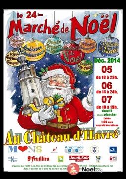24e Grande Marché de Noël au château d'Havré à Havré  (Province de Hainaut )
